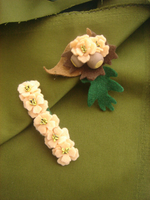 Felt Flowers Hair Clip and Brooch by FashionAtelier