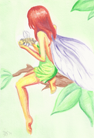Fairy with a bumble bee by death-g-reaper