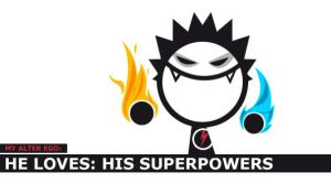 i love: he loves: superpowers by dheny