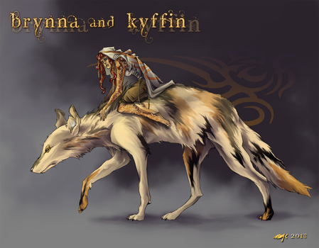 Brynna and Kyffin by Kyasarin-angel