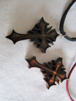 wooden cross necklaces by DMSscroller