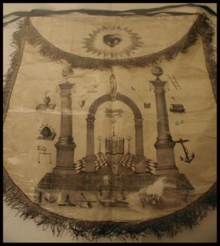 Colonial Masonic Apron by SpiderSong
