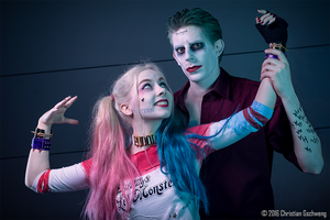 Joker and Harley - suicide squad by Lea-Louise