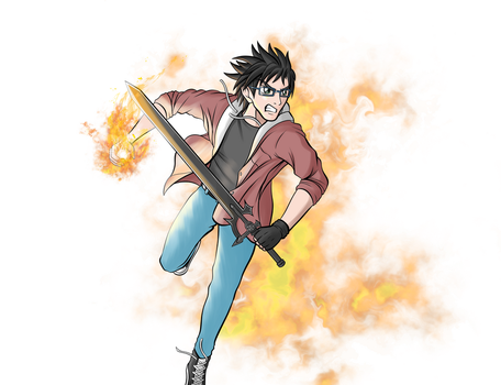 My friend if he was a manga character by IceAgony