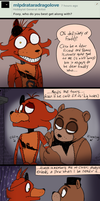 FNAF - Ask#26 Who Foxy Best Gets Along With by Atlas-White