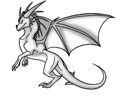 Dragon Rise Pose Long Crest and Wings by Annatiger1234