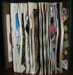 1st Altered Book, Pages Spread Fan-like by angelstar22
