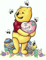 Pooh Loves You by ArtCrazy24-7