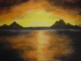 Pastel chalk 01 - Sunrise by CpointSpoint