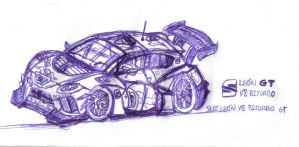 seat laeon shiloutte v8 sketch by ALX10
