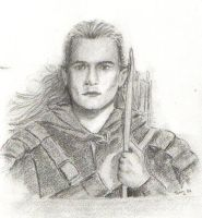 Legolas at the Deeping Wall by Powerfulwoodelf