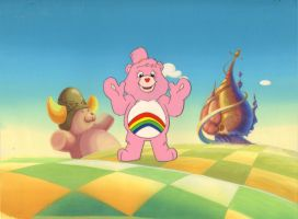 Original Hand Painted Care Bears Production Cel by AnimationValley