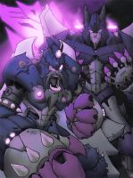 Scourge and Cyclonus by RecklessHero