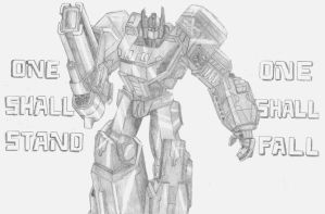 Fall of Cybertron: Optimus Prime by Bumble217