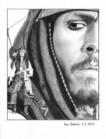 Johnny Depp - Multiple Jacks by shaman-art