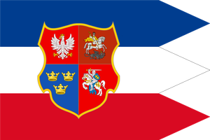Flag Russo-Swedish-Polish-Lithuanian Empire by TiltschMaster