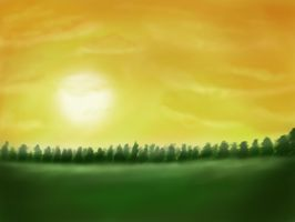 Sunrise over the trees by Naphula