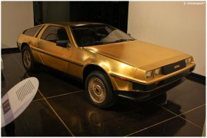 Golden DeLorean by shenanigan87
