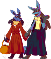 [Commission] - Trick or Treat by Riboo