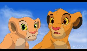 Simba and Nala by tigon