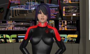 Mirror Universe Jumpsuit and ISS Comm Badge by ShadowhawkOne