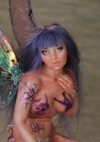 ooak fairy forget-me-not by fairiesndreams