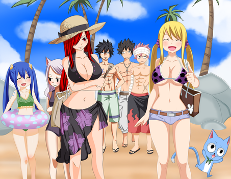 Fairy Tail 441 -A Day On The Beach- -Collab- by Frosch-Sama08
