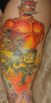 Simpsons halloween tattoo WIP by xmaryxedgex