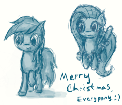 Merry Christmas - Pony Scribbles by Pterocorn