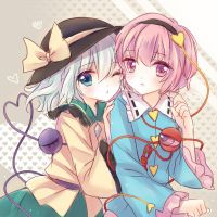Koishi and Satori by kururuno
