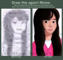 draw again meme (celeste) by celesteyupi
