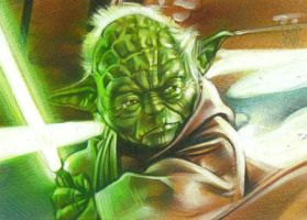 Yoda 2 - Sketch Card by JeffLafferty