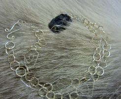 Complete: Black Stone Necklace w/ Silver Filigree by SadiesAccessories