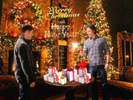 Merry Supernatural Christmas and Happy New Year! by Nadin7Angel