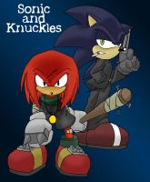 Urban Sonic and Knuckles by Tigerfog