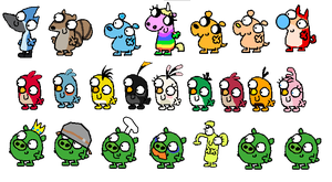 Cartoon Characters in FG style (transparent) by jared33