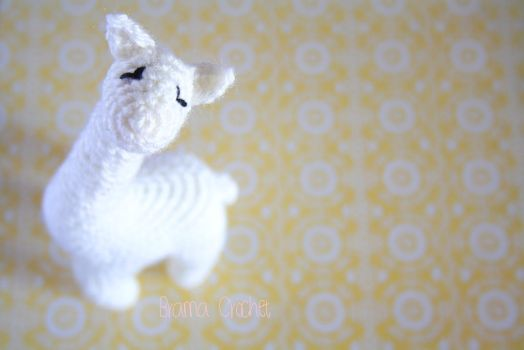 White Giraffe Amigurumi crochet doll plush by BramaCrochet