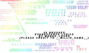 26 Evanescence Lyrics Brushes by Silver-Ice-Dragon