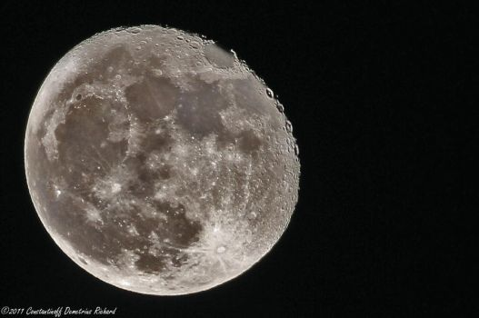 The moon - by RichardConstantinoff