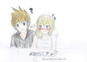 What are you drawing,Namine? by Curious-kim