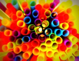 Rainbow Straws by RachelDS