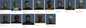 My cyborg collection in Star Trek Online by marhawkman