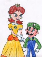 Princess Daisy and Luigi by VioletAnne9
