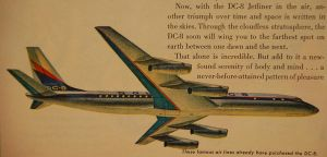 DC-8 airliner stock by fahrmboy-stock