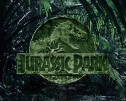 rocky jurassic park logo wallpaper green version by OniPunisher