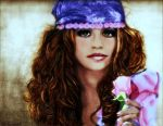 Pencil Drawing Gypsy Rose colorized no. 2 by shuckaby