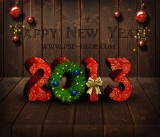 2013 Happy New Year Text Effect by PsdDude