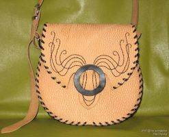 Yellow bag with embroidery by scargeear