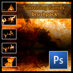 Scorching Flames Brushpack by Luexo
