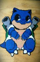 Moe Blastoise (Mini Hama Beads) by ericgant